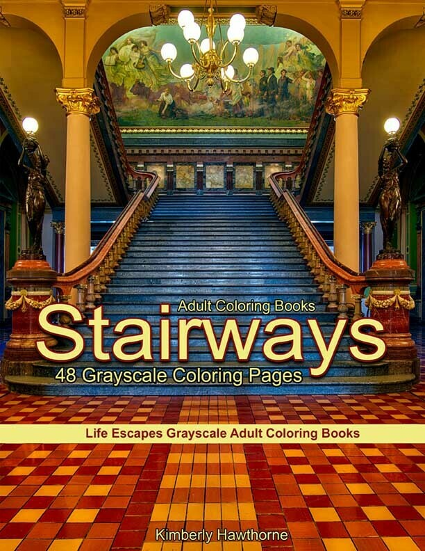 Stairways Grayscale Adult Coloring Book PDF