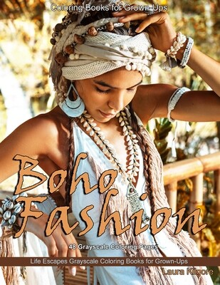 Boho Fashion Coloring eBook for Grown-Ups PDF