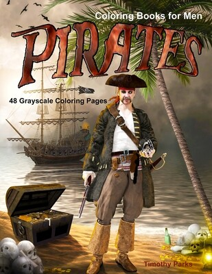 Pirates Grayscale Coloring eBook for Men PDF