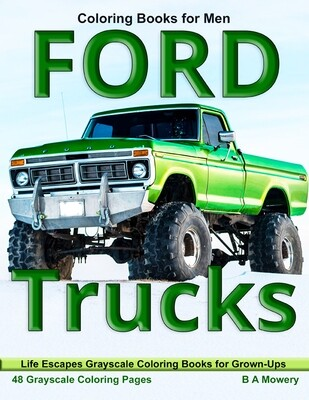 Ford Trucks Grayscale Coloring Book for Men PDF