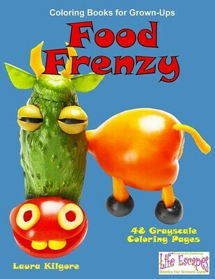 Food Frenzy Coloring Book for Grown-Ups PDF