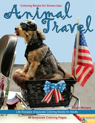 Animal Travel Coloring Book for Grown-Ups PDF
