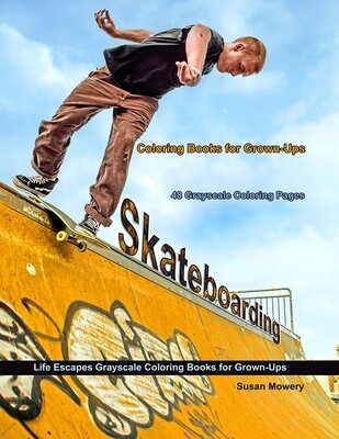 Skateboarding Coloring Book for Adults PDF