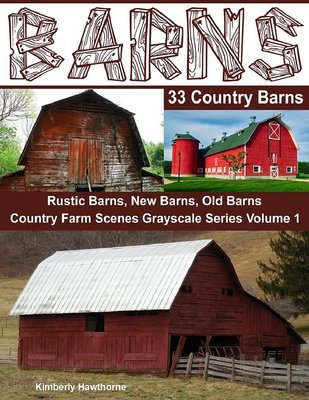 Barns 33 Country Barns Grayscale Coloring Book for Adults Digital Download