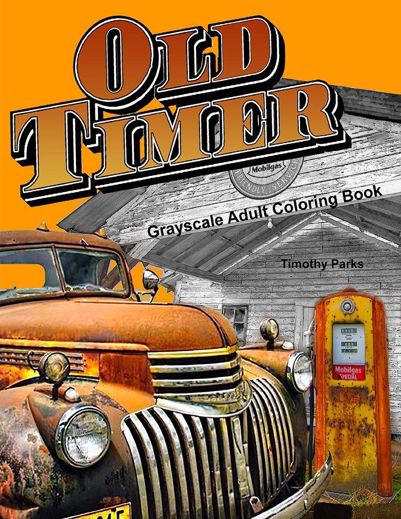 Oldtimer Coloring Book for Adults Digital Download