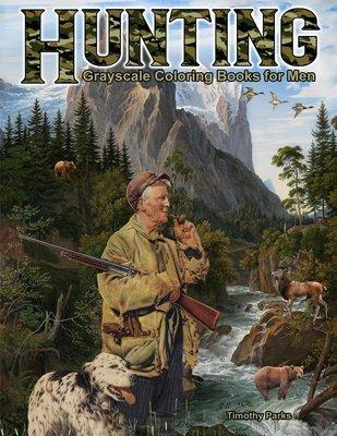 Hunting Coloring Book for Men Digital Download