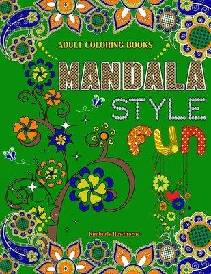 Mandala Style Fun Coloring Book for Adults Digital Download