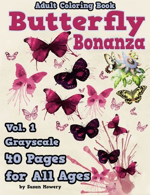 Butterfly Bonanza Coloring Book for Adults Digital Download