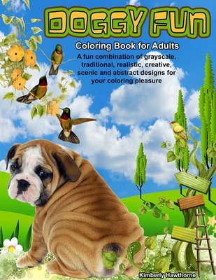 Doggy Fun Coloring Book for Adults Digital Download