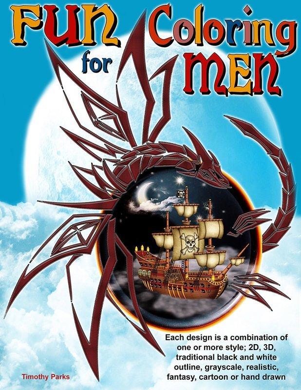 Fun Coloring for Men Digital Download