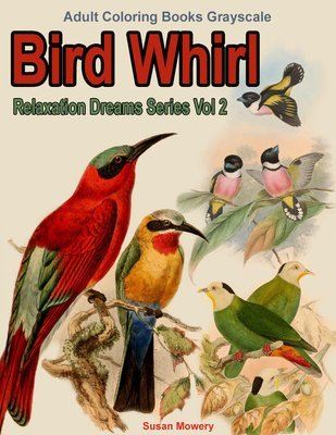 Bird Whirl Coloring Book for Adults Digital Download