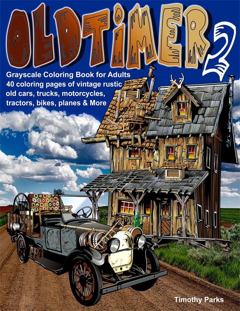 Oldtimer 2 Coloring Book for Adults Digital Download