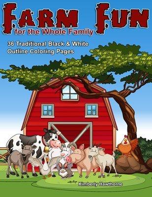 Farm Fun Coloring Book for Kids Digital Download