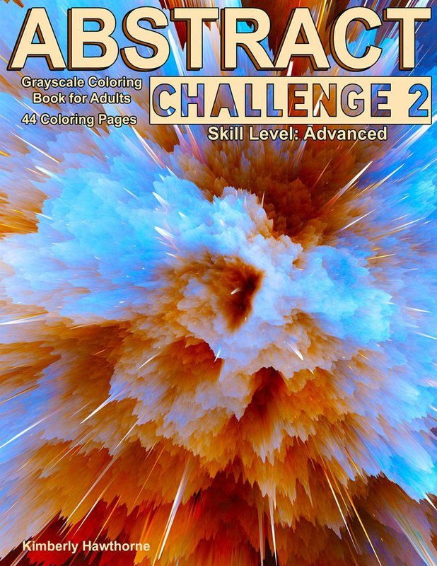 Abstract Challenge 2 Coloring Book for Adults Digital Download