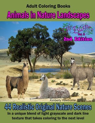 Animals in Nature Coloring Book for Adults Digital Download