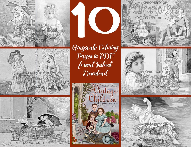 Vintage Children 10 Page Sampler Pack Digital Download