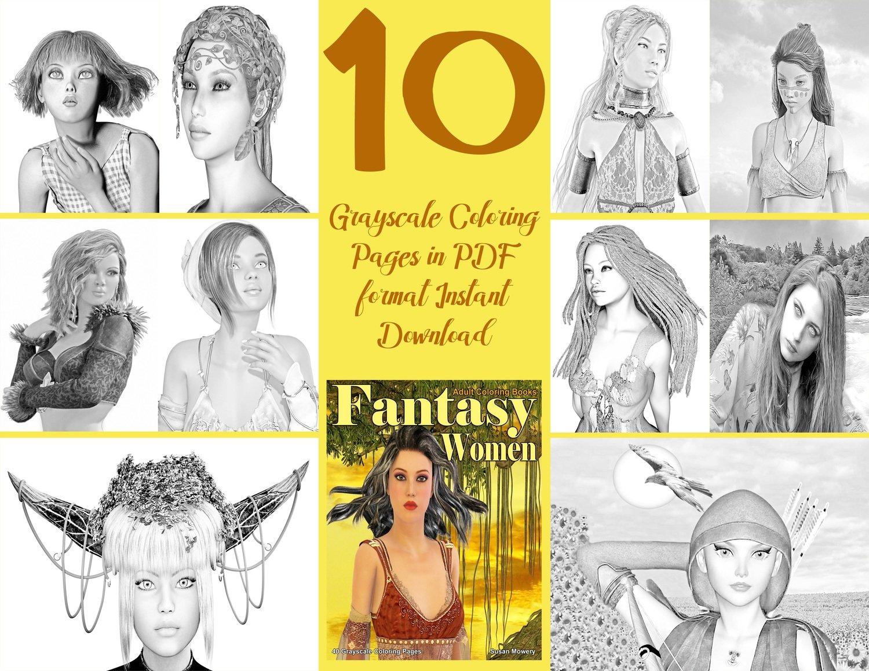 Fantasy Women Sampler Pack Digital Download