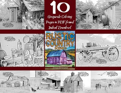 Rustic Country Sampler Pack Digital Download
