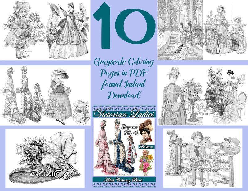 Victorian Ladies Sampler Pack Digital Download