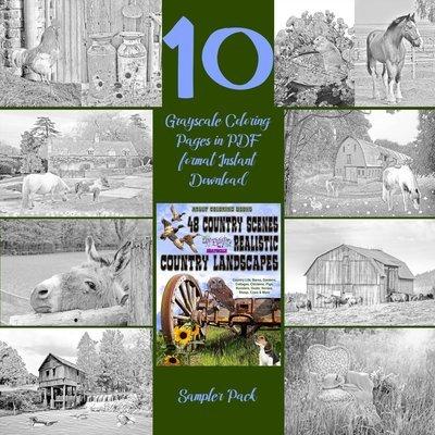 48 Country Scenes Sampler Pack Digital Download