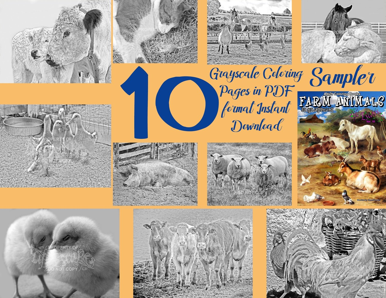 Farm Animals Sampler Pack Digital Download