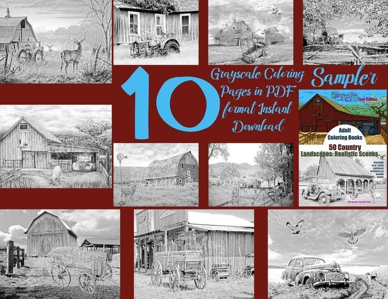 50 Country Scenes Sampler Pack Digital Download
