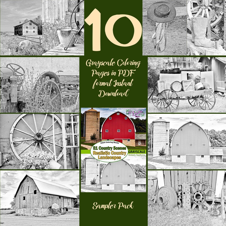 51 Country Scenes Sampler Pack Digital Download