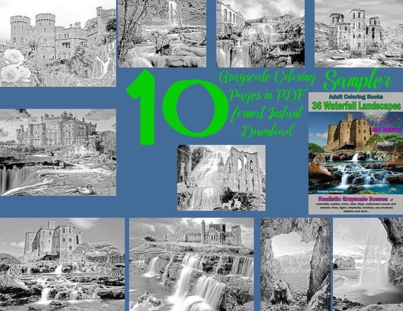 Waterfall Landscapes Sampler Pack Digital Download