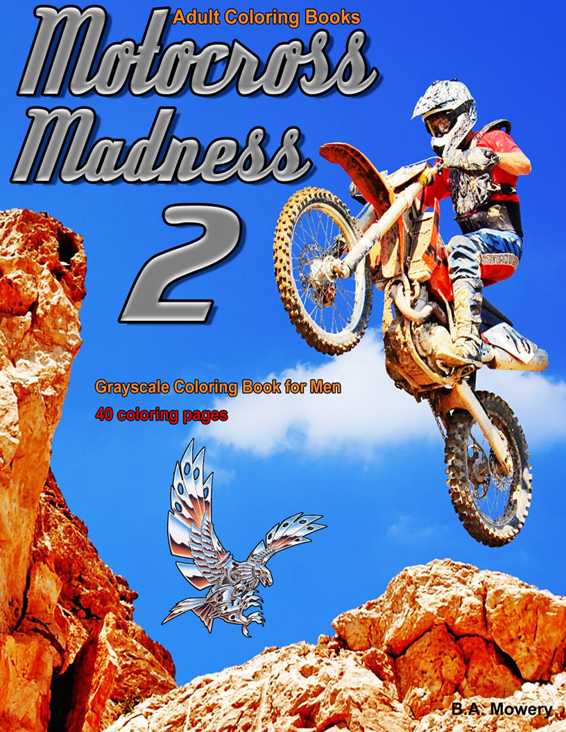 Motocross Madness 2 Coloring Book for Men Digital Download