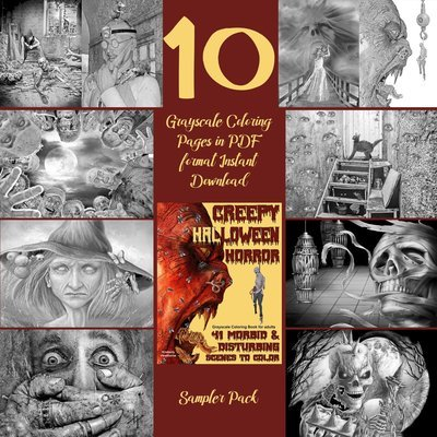 Creepy Halloween Horror Sampler Pack Digital Download