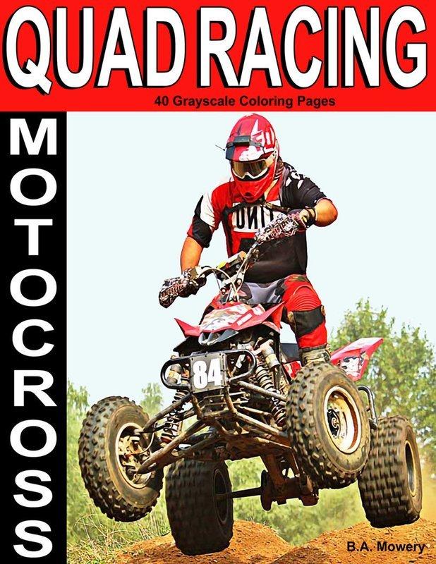 Motocross Quad Racing Adult Coloring Book Digital Download