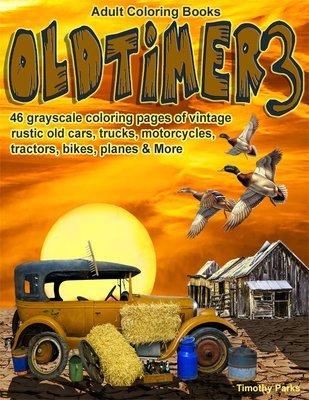 Oldtimer 3 Adult Coloring Book Digital Download
