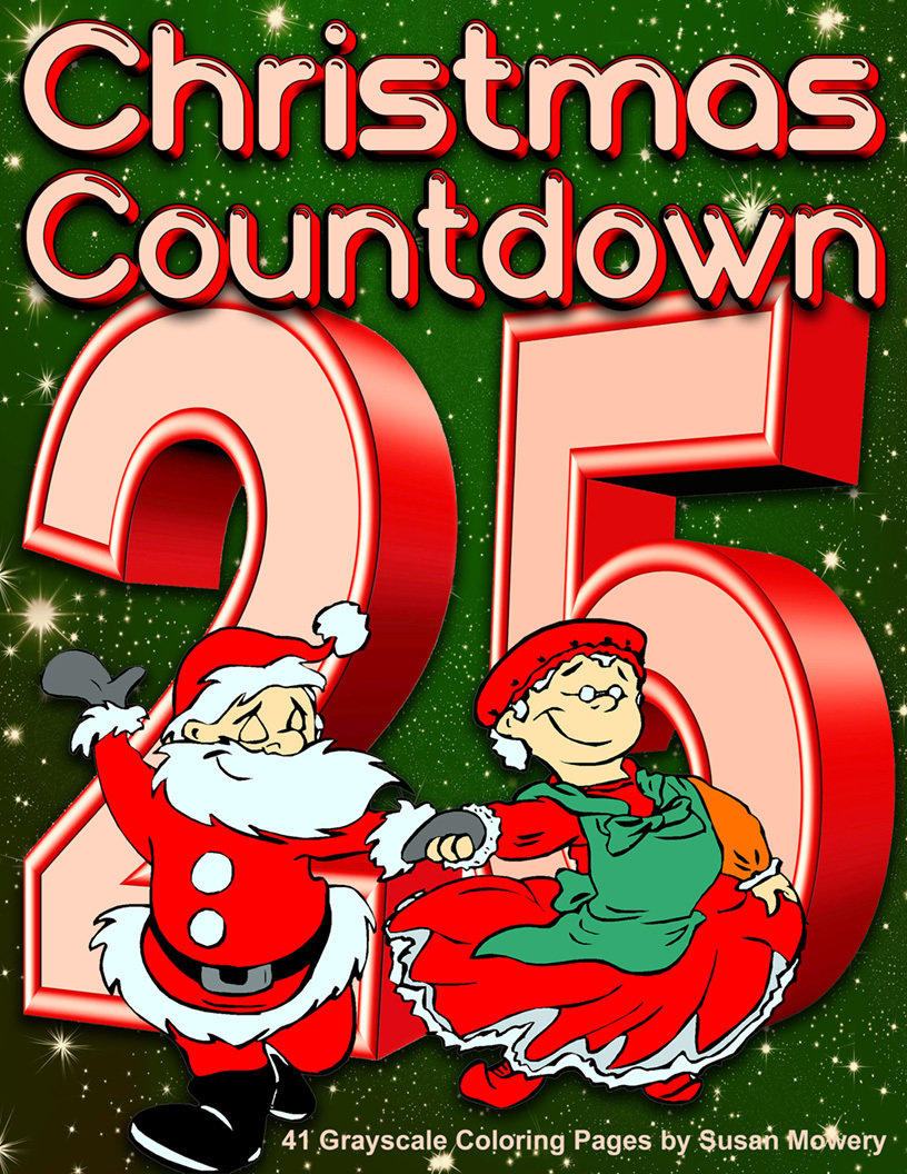 Christmas Countdown Adult Coloring Book Digital Download