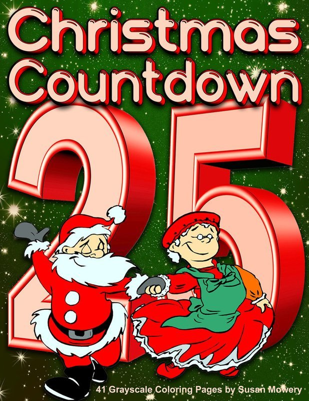 Christmas Countdown Adult Coloring Book Digital Download