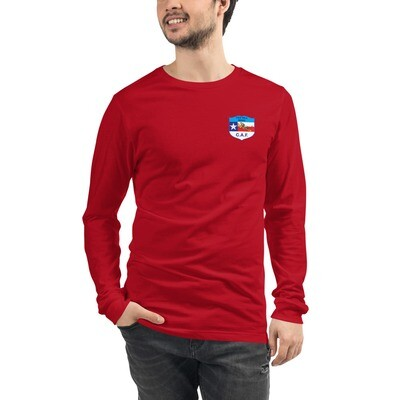 Tex Hill Wing Logo on Unisex Long Sleeve Tee