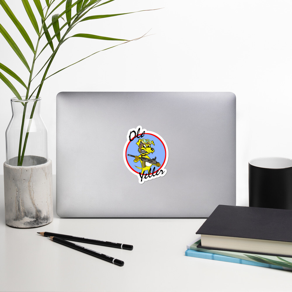 Ole Yeller nose art Bubble-free stickers