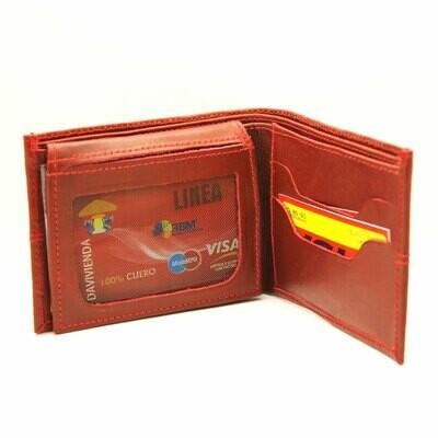 Billetera Roja Hombre