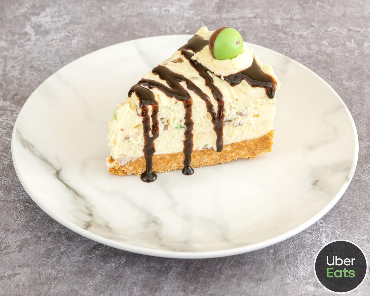 Mint Aero Cheesecake Slice