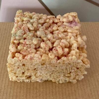 Glittery Rice Crispie Square
