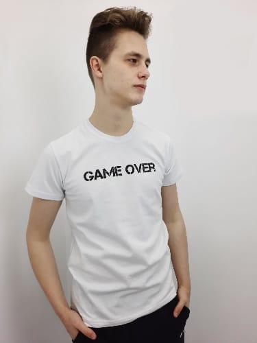 """Футболка с принтом """"GAME OVER"""""""
