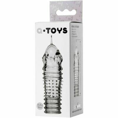 Стимулирующая насадка на пенис из коллекции A-Toys от ToyFa, цвет прозрачный, 15,3см
