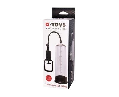 Прозрачная вакуумная помпа A-toys vacuum pump 27,5 см  с уплотнительным кольцом