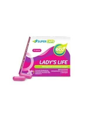 Капсулы Lady's Life возбуждающие для женщин 14шт