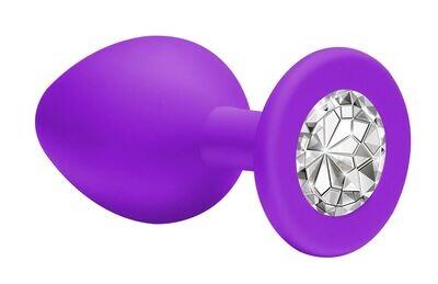 Анальная пробка Emotions Cutie Medium Purple clear crystal