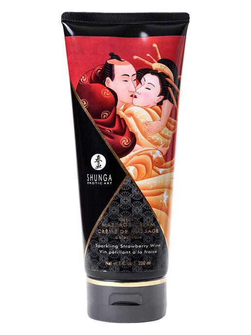 Крем Shunga Kissable Massage Cream Sparkling Strawberry Wine 200мл