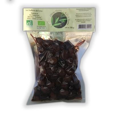 Olives Noires   A.OP. Nyons  agriculture Biologique -  300 gr.