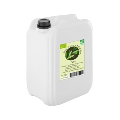Huile Olive A.O.P. Nyons  agriculture biologique  5 Litres