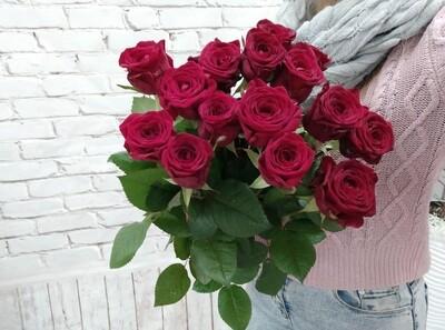 15 Роз Ред Наоми 60см под Ленту