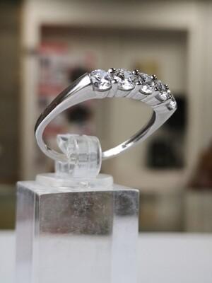 White Gold Ring CZ 9ct Ladies