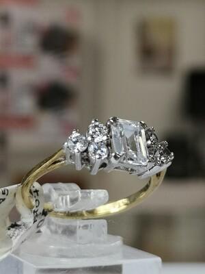9ct Gold Ring CZ Ladies